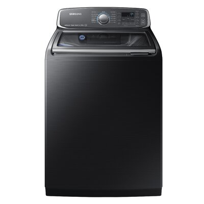 5.2 cu. ft. High Efficiency Top Load Washer Samsung Color: Black Stainless Steel