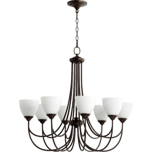 Hewlett 8-Light Shaded Chandelier by Three Posts