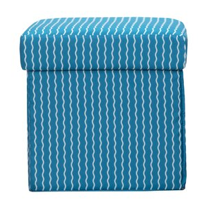 Serpentine Stripe Cerulean Box Ottoman by Crayola LLC