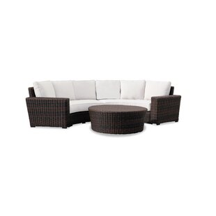 Sunset West Montecito Curved Loveseat with Sunbrella Cushions