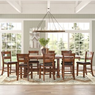 Ellington 9 Piece Counter Height Extendable Dining Set