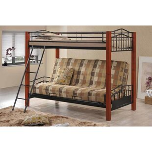 Cyrilmagnin Futon Twin Bunk Bed by Harriet Bee