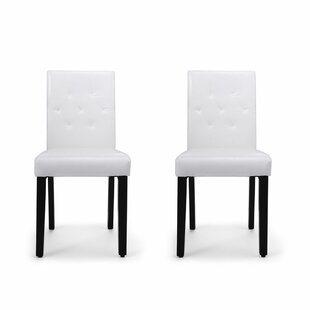Mui Upholstered Tight Back Side Chair in White Set of 2 by Red Barrel Studio