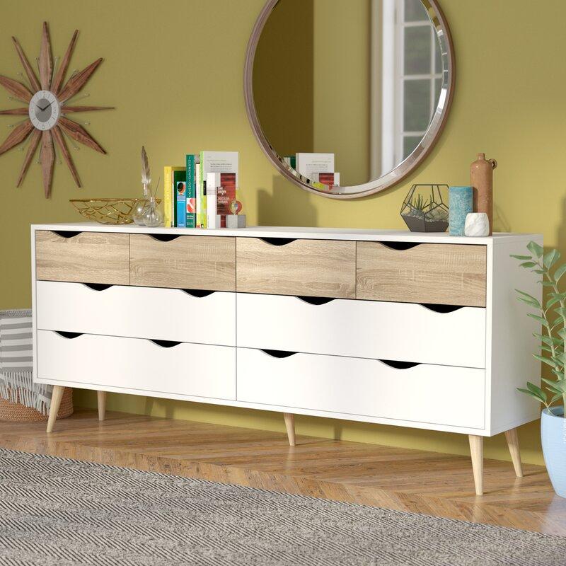 Dowler 8 Drawer Double Dresser