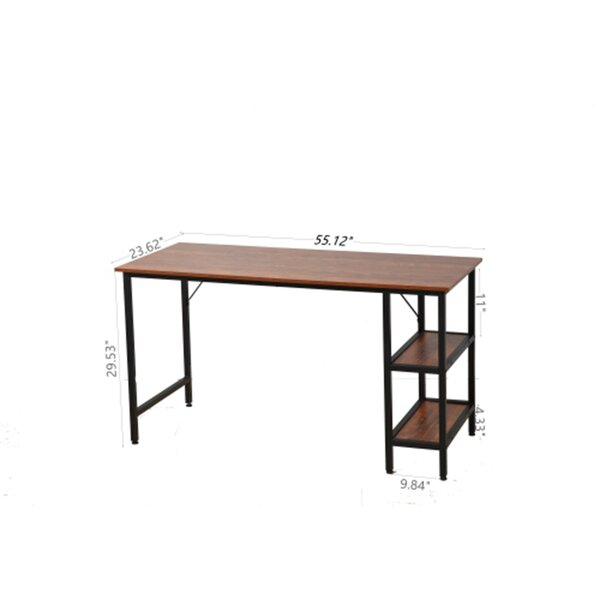 Inbox Zero 55 Inch Rustic Brown,High Quality Best Sell Home Office