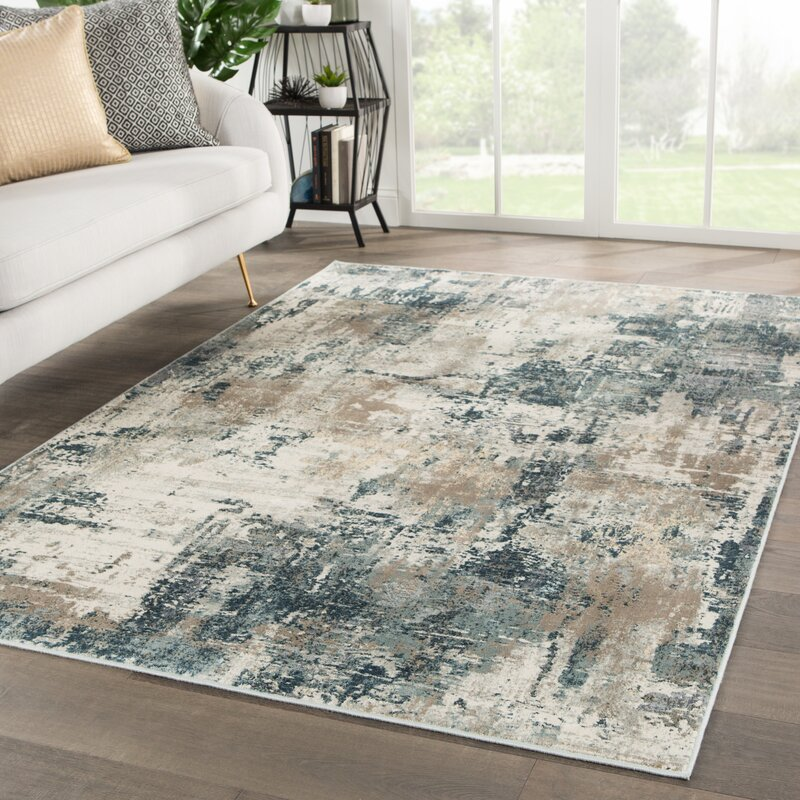 Ramsgate Abstract Beige/Blue Area Rug