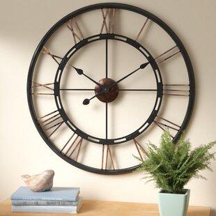Superb Drew Oversized Metal Wall Clock
