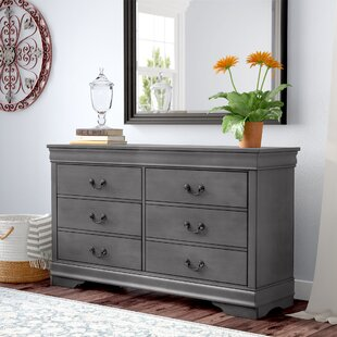 Guffey 6 Drawer Double Dresser with Mirror by Laurel Foundry Modern Farmhouse
