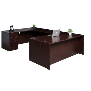 Fabiano Workstation 4 Piece U-Shape Desk Office Suite