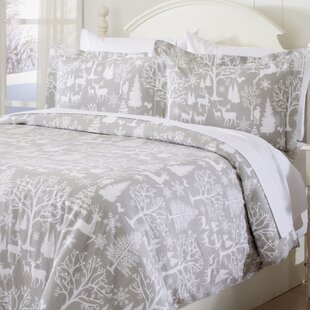 Keyon Extra Soft Printed Flannel Duvet Cover Set
