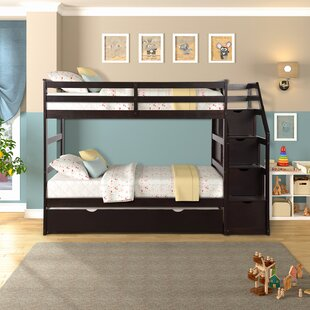 Robbinsen Twin Over Twin Bunk Bed with Trundle by Harriet Bee