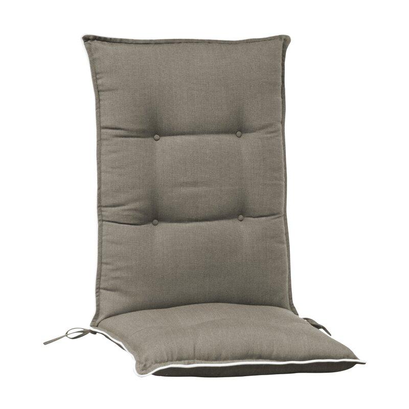 Arbora Teak Accent Indoor/Outdoor Dining Chair Cushion  Color: Grey