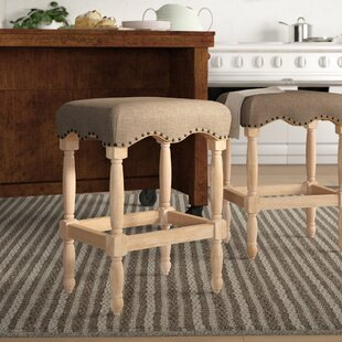 Gustel 30 Bar Stool with Fabric Upholstered Seat Birch Lane™ Heritage