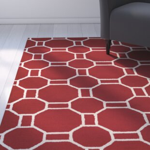 Evangeline Hand-Tufted Red Indoor/Outdoor Area Rug