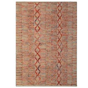 Utah Handwoven Wool Pink Rug by Bakero