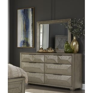 Daley 6 Drawer Double Dresser with Mirror by Mercer41