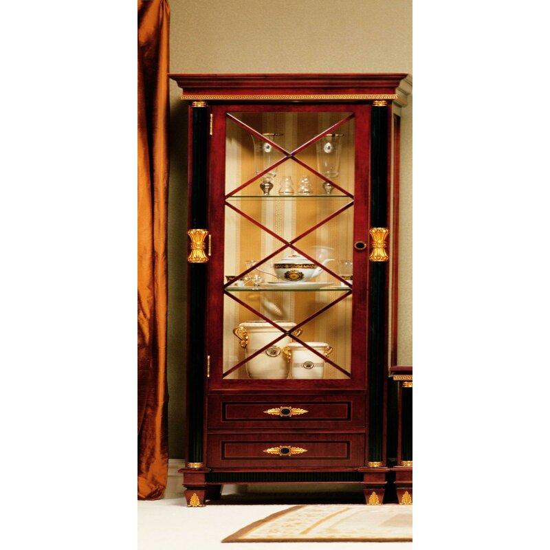 Astoria Grand Gigasso One Door Display Curio Cabinet Wayfair