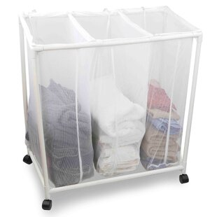 Triple Laundry Sorter Cart With Wheels