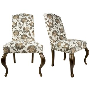 Queen Ann Spring Upholstered Side Chair (Set of 2) Sole Designs