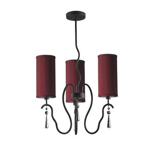 Woodbridge Lighting Haley 3-Light Shaded Chandelier