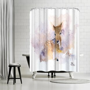 Review Rachel McNaughton Baby Deer Shower Curtain by East Urban Home