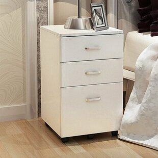 File Cabinet 5 Wheels 3 Drawer  Filing Cabinet By Symple Stuff