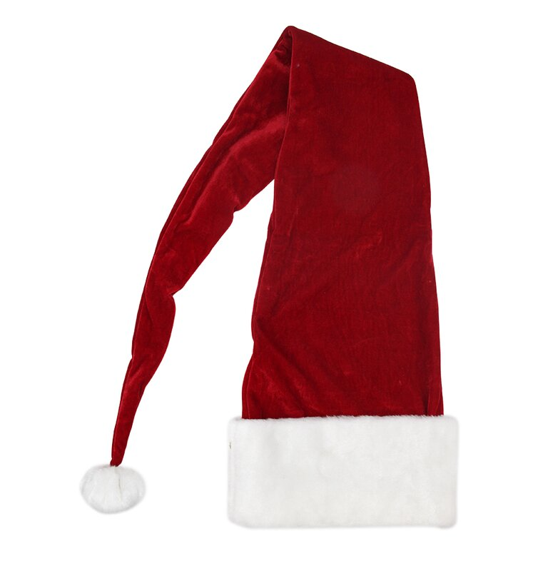 Northlight Ultimate Luxury Santa Hat With Extended Cuff