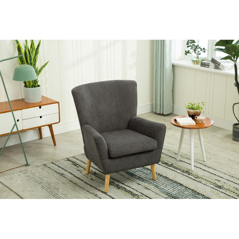 Marini Accent Chair Contemporary Clean Style Design Living Room Chair -  Dark Gray
