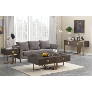 Everly Quinn Sandisfield 3 Piece Coffee Table Set