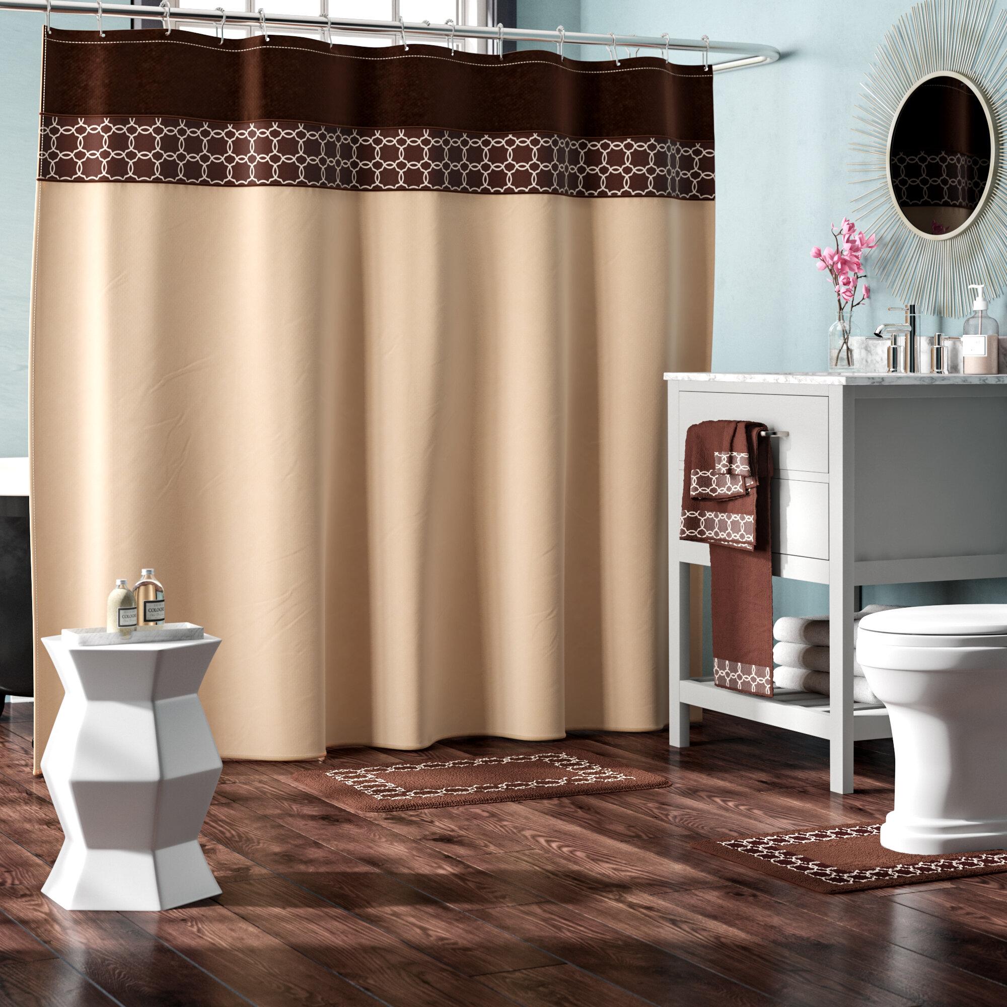 Willa Arlo Interiors Austyn 18 Piece Embroidery Shower Curtain Set ...