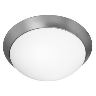 Compare prices Capp Modern 1-Light Outdoor Flush Mount By Ebern Designs