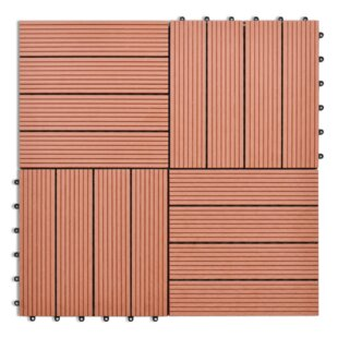 30cm x 30cm WPC Wood Decking Tile (Set of 11) by Home Etc