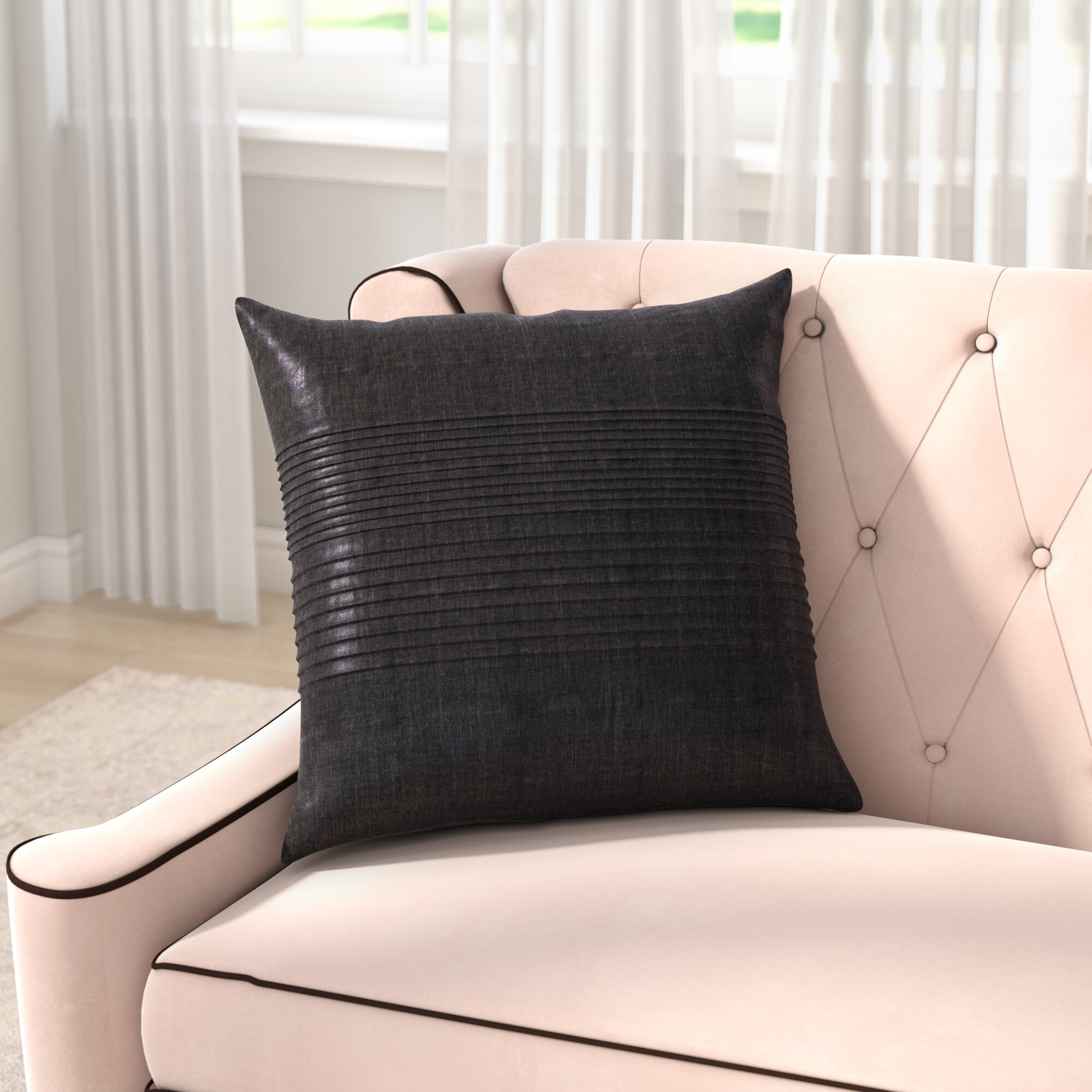 Willa Arlo Interiors Arber Pleated Throw Pillow Cover & Reviews