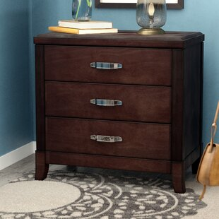 Darby Home Co Mcduffie 3 Drawer Nightstand with Power and USB