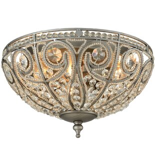 House of Hampton Goethe 3-Light Flush Mount