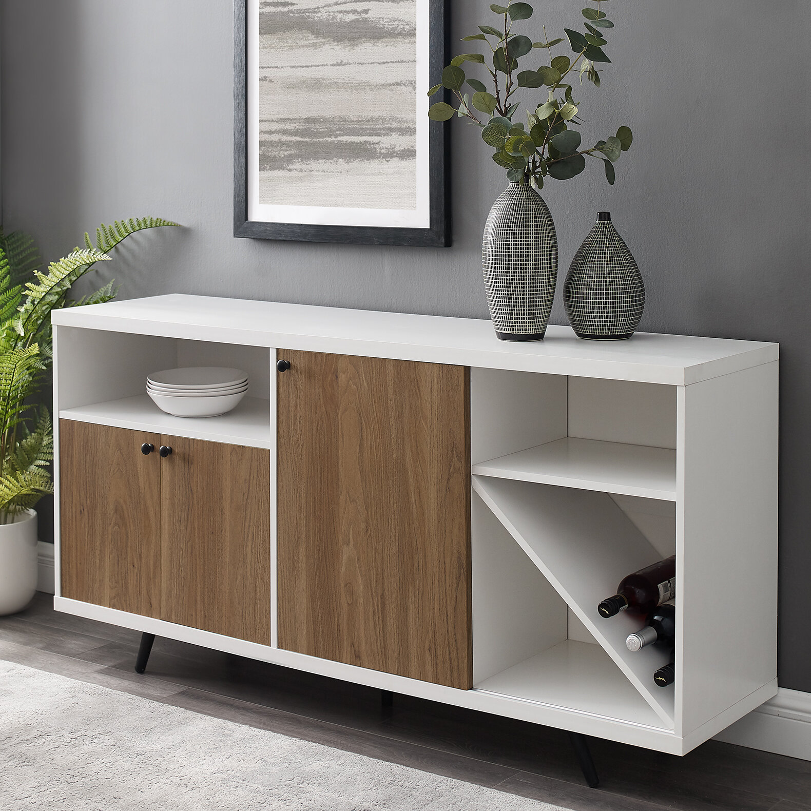 Wine Bottle Storage Equipped Sideboards Buffets You Ll Love In 2020 Wayfair