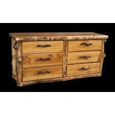 Aspen Flat Front 6 Drawer Dresser by Utah Mountain