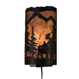 Budget Graciela Moose Scene Panel 1-Light Flush Mount By Loon Peak