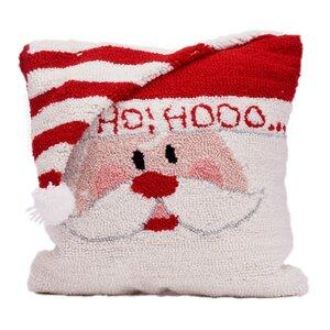 Santa Hooked Throw Pillow
