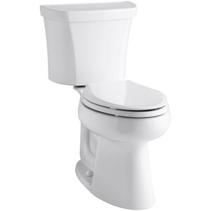 Highline Comfort Height 2-Piece Elongated Dual-Flush Toilet with Class Five Flush Technology and Right-Hand Trip Lever