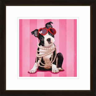 Chic Pup Framed Graphic Art