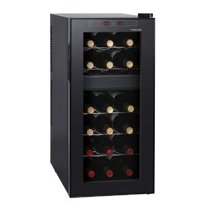 18 Bottle Dual Zone Freestanding Wine Cooler by Homeimage