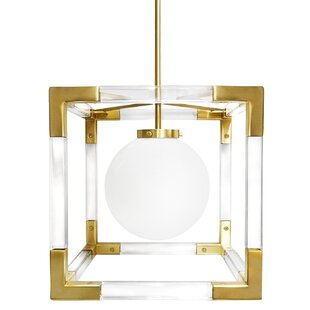 Jacques 1-Light Square/Rectangle Pendant by Jonathan Adler
