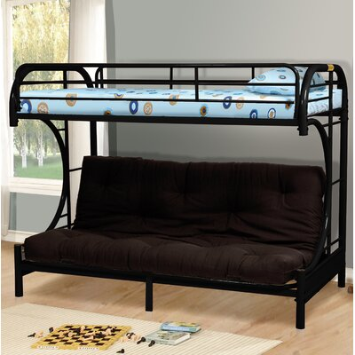 Amazing Twin Over Full Futon Bunk Bed Wildon Homea Color Black Machost Co Dining Chair Design Ideas Machostcouk
