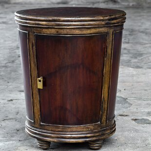 Jake Drum End Table by Astoria Grand