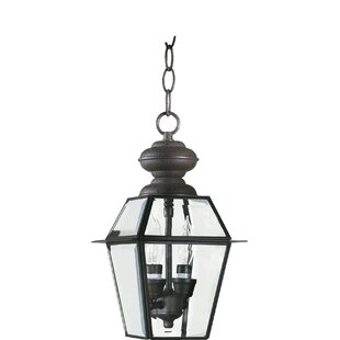 Look for Heuser 2-Light Outdoor Hanging Lantern By Three Posts