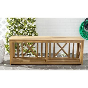 Stathelle Wooden Bench By Sol 72 Outdoor
