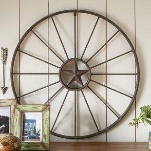Rustic Wagon Wheel Wall Decor