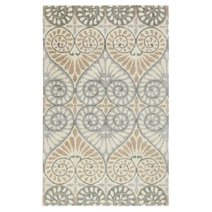 Dew Drop Hand-Tufted Pewter Area Rug
