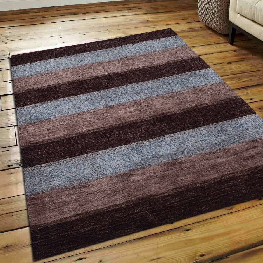 Union Rustic Paisleigh Striped Hand Knotted Silk Brown Beige Area Rug Wayfair